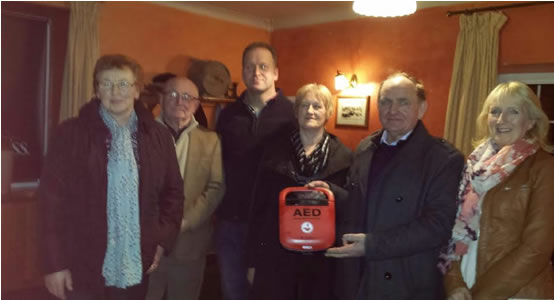 Kilbarron Church 200 committee members with the new defibrillator which has been installed in Kilbarron village. -  Breda Cormican, Frank Moran, James Mulvihill, Ann Butler, Christy Cormican and Bridie Brophy.